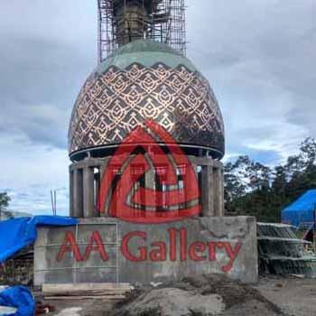 Pembuat Kubah Masjid dari Tembaga