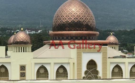 Biaya Kubah Masjid Tembaga, Informasi dari Perajin Kubah Masjid di Boyolali, Jateng